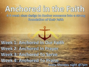 anchored in the faith
